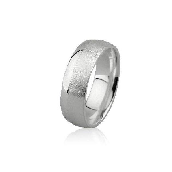 Zilveren vriendschapsring - 7 mm - mat glanzend