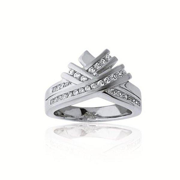 Zilveren damesring - zirkonia