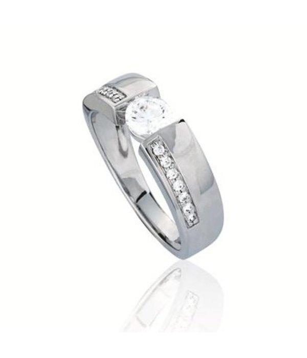 Elegance Zilveren fantasiering elegance - Met zirkonia