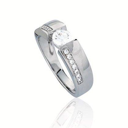 Elegance Zilveren damesring - met zirkonia - Gerodineerd
