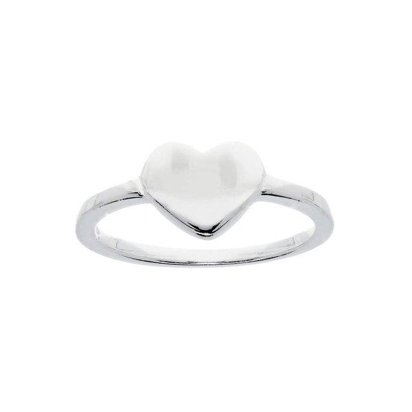 Zilveren kinderring - dicht  hart - glanzend