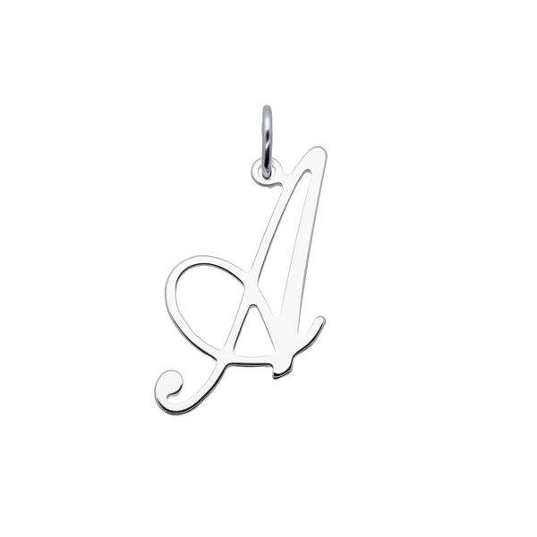 Zilveren letterhanger - sierletter - 30 mm - a