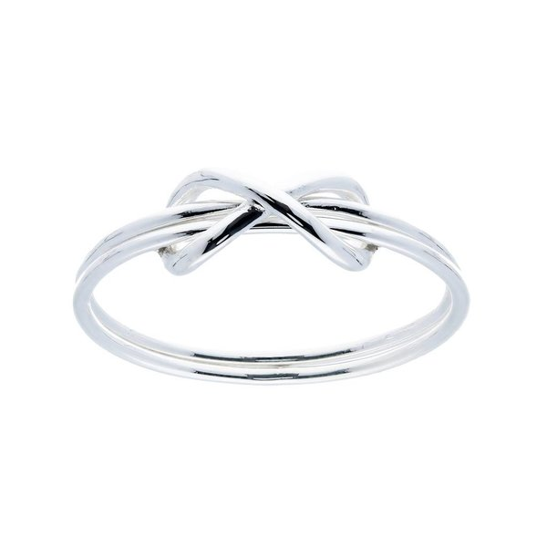 Zilveren damesring - infinity
