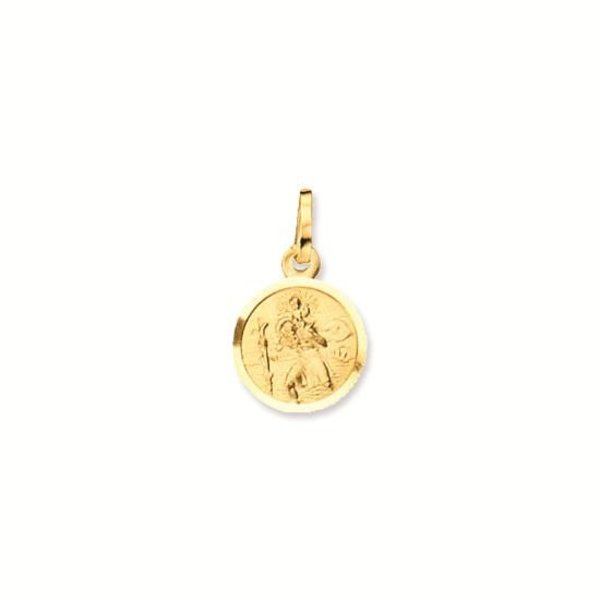 Gouden christoffel - 14 mm - rond - gladde rand