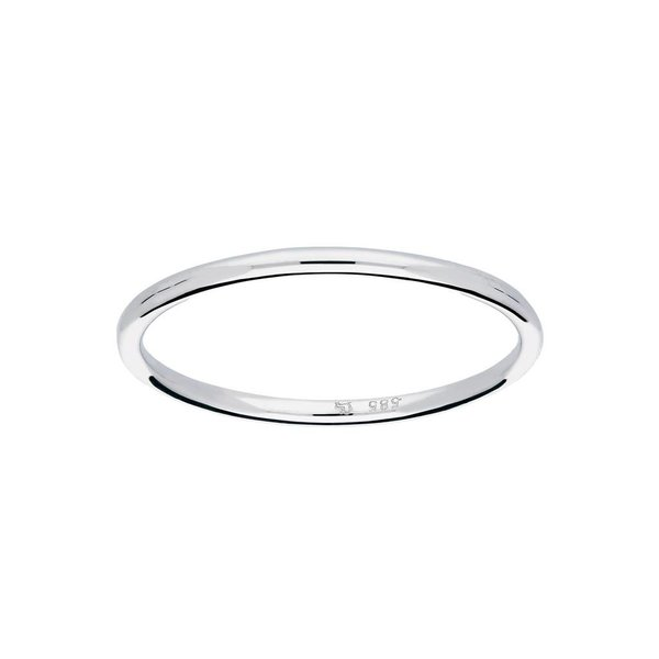 Witgouden ring - glad - bol - 1.2 mm
