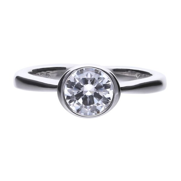 Zilveren solitaire ring diamonfire - 1.50 ct