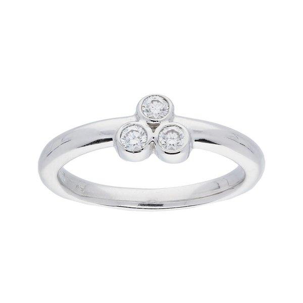 Zilveren ring - zirkonia - gerodineerd - 2mm