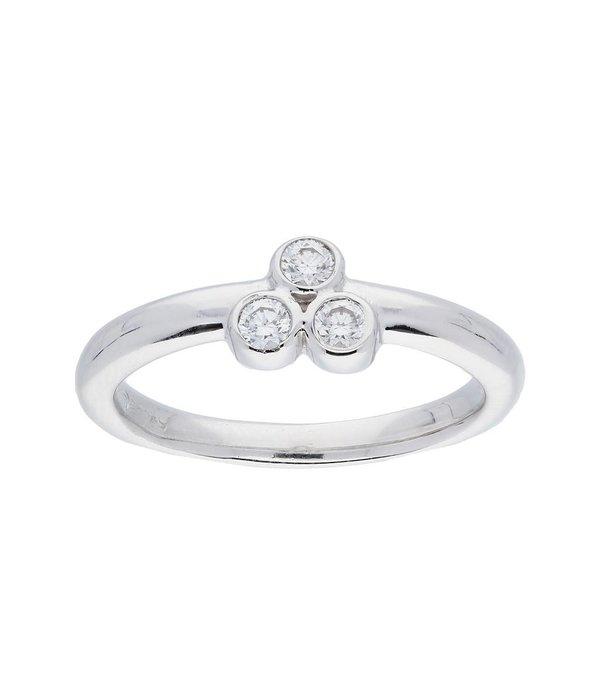 Classics Zilveren ring - zirkonia - gerodineerd - 2mm -