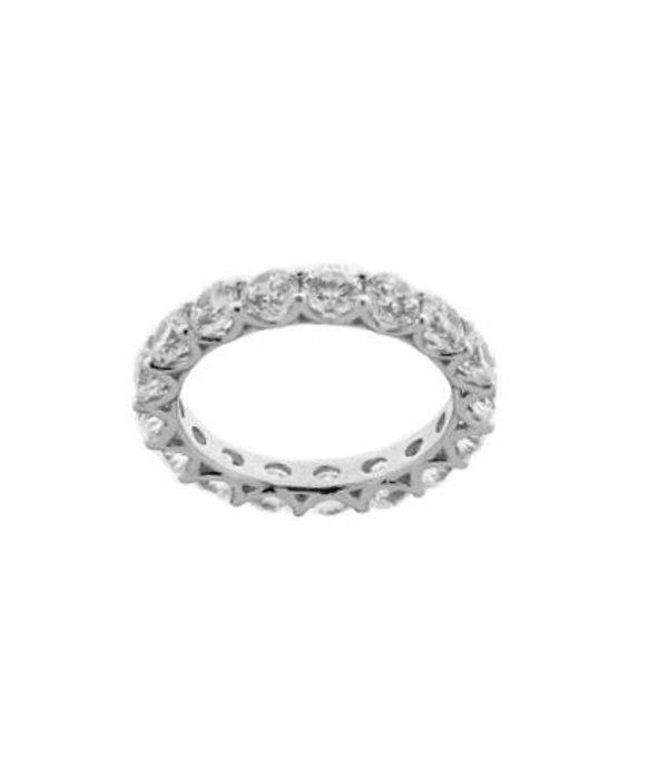 Diamonfire Zilveren alliance ring diamonfire - Maat 20.0 - ronde stenen - chaton zetting