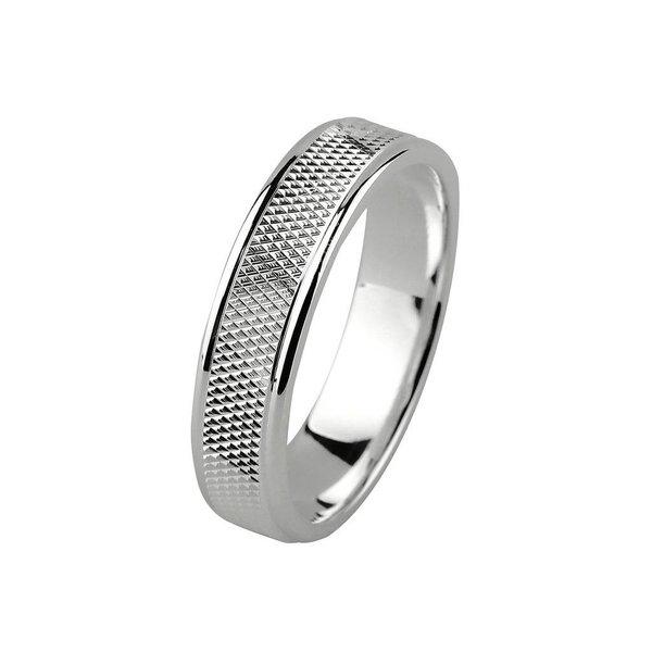 Zilveren vriendschapsring - 5 mm - bewerkt