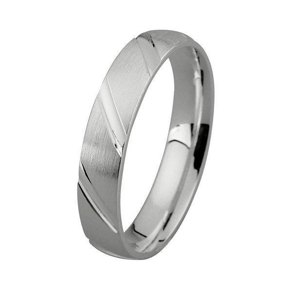 Zilveren vriendschapsring - 4 mm - bewerkt