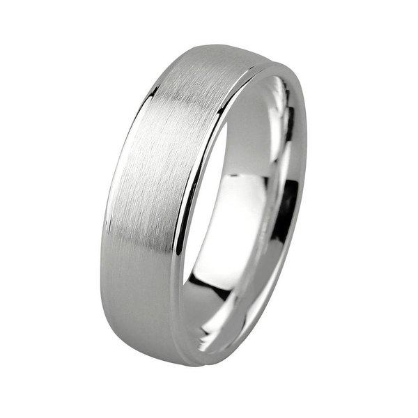 Zilveren vriendschapsring - 6 mm - mat glanzend