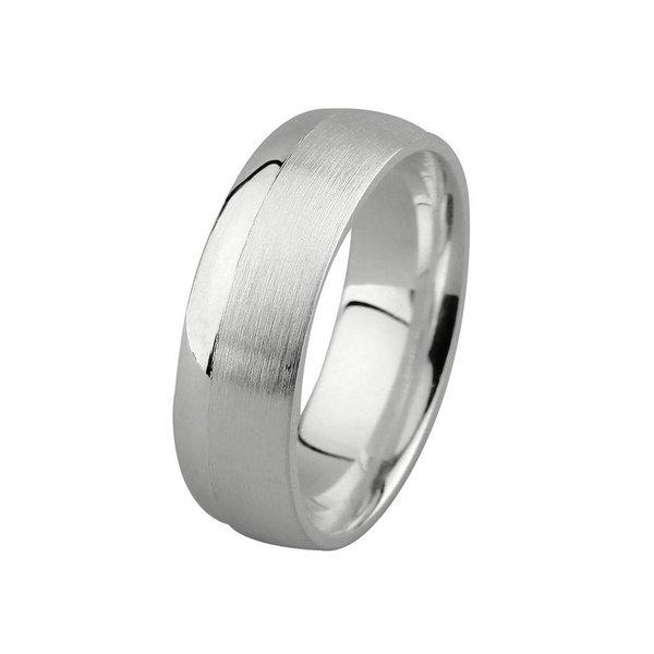 Zilveren vriendschapsring - 7 mm - 2 x zirkonia