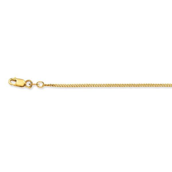 Gouden lengtecollier - gourmet - 1.4 mm - 38 cm