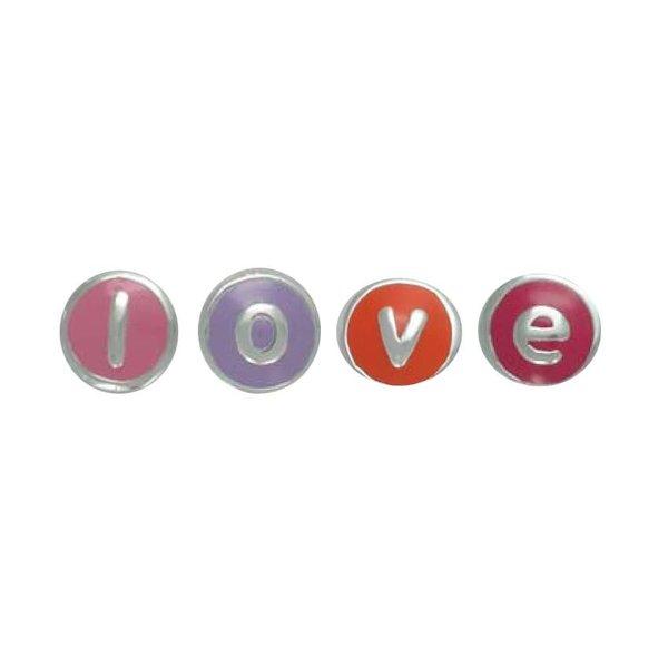 Zilveren letterhanger - bead letter z (roze+wit)