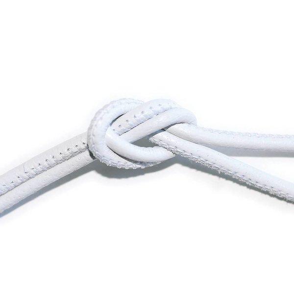 Leren wikkelarmband - wit