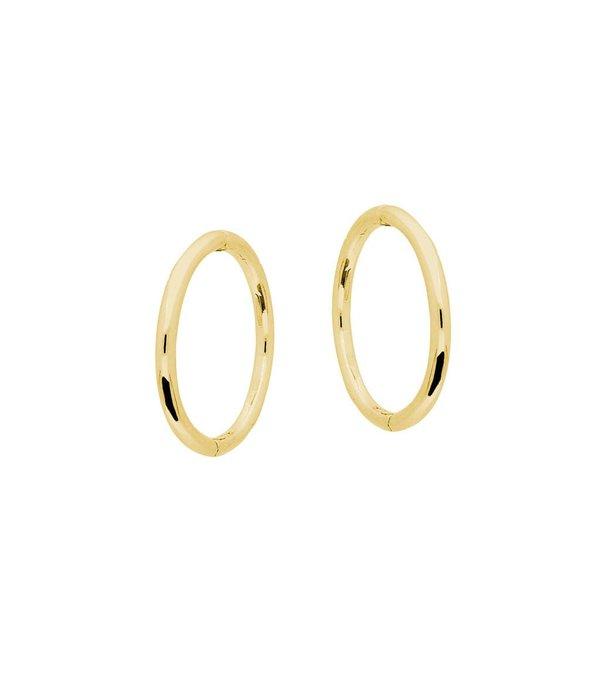 Glow Gouden klapcreolen - 1.1 x 12 mm -