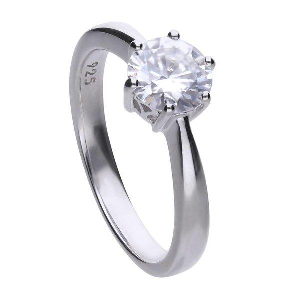 Zilveren solitaire ring diamonfire - 1.50 ct