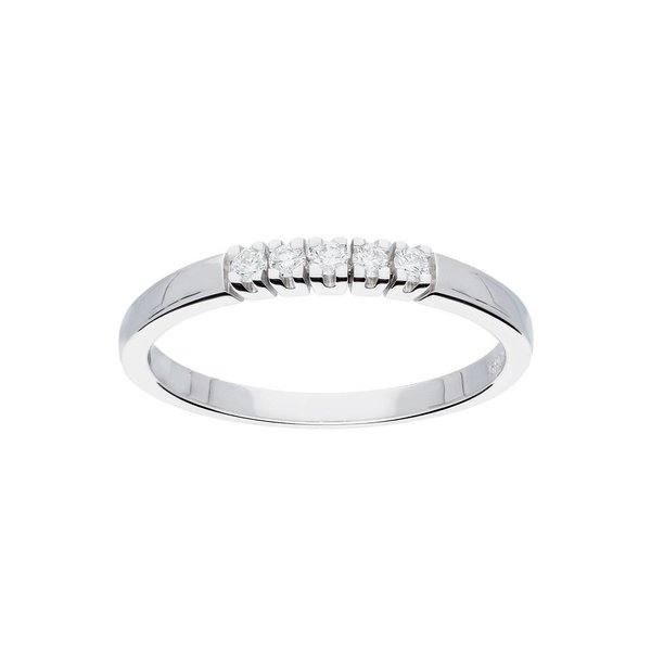 Witgouden ring - glanzend - diamant - 5-0.1ct