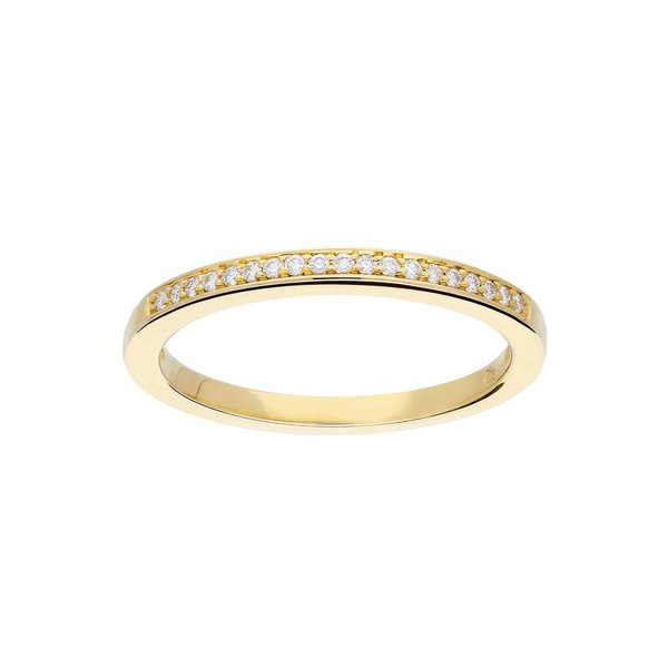 Gouden ring - glanzend - diamant - 19-0.09ct