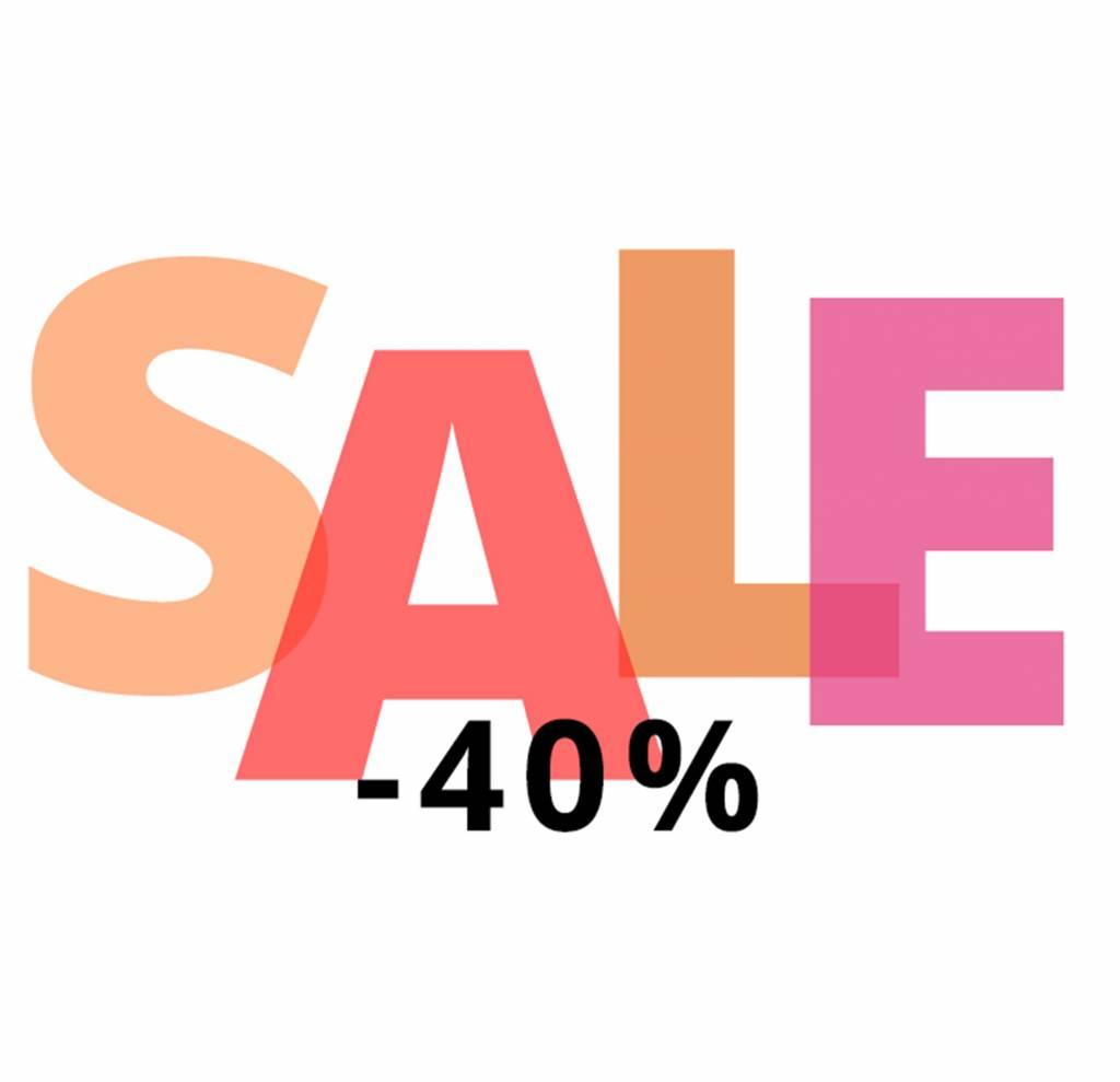 Sale: 40% korting!