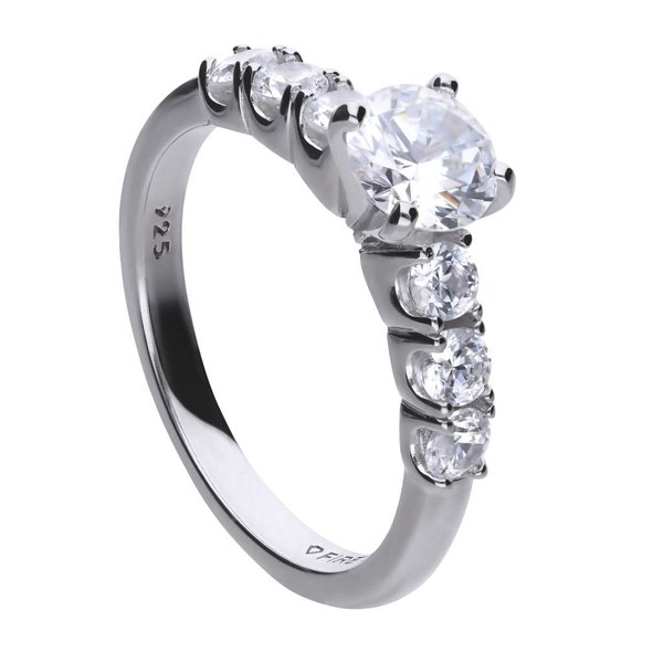 Zilveren classic ring diamonfire