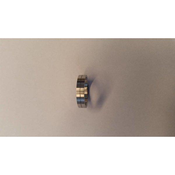 Stalen vriendschapsring - 5 mm - mat glanzend