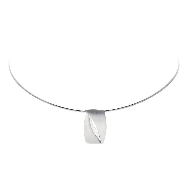 Zilveren hanger - mat glanzend