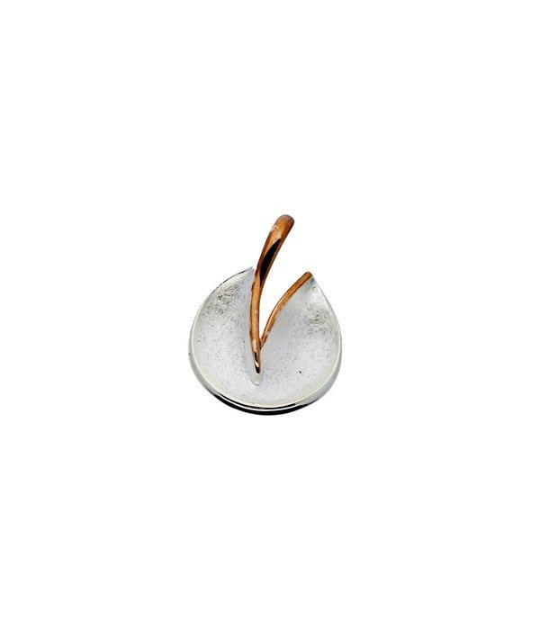 Elegance Zilveren hanger elegance - Rosegoudverguld mat glanzend