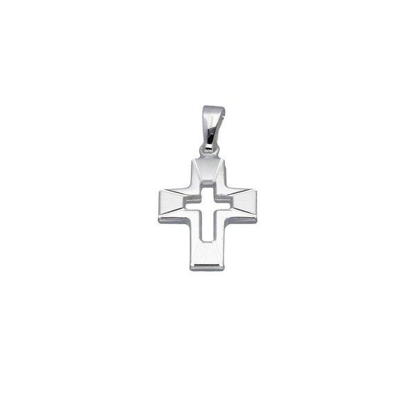 Zilveren kruisje - opengewerkt - massief
