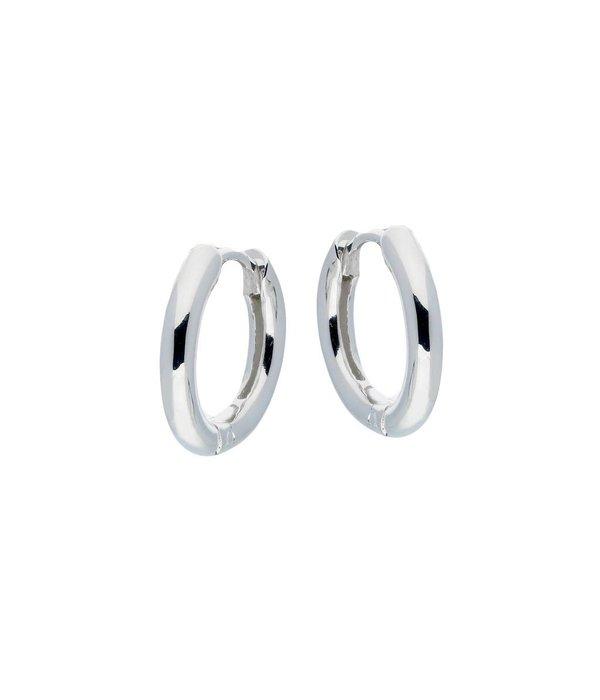 Best basics Zilveren klapcreolen - ronde buis 2.5 mm -