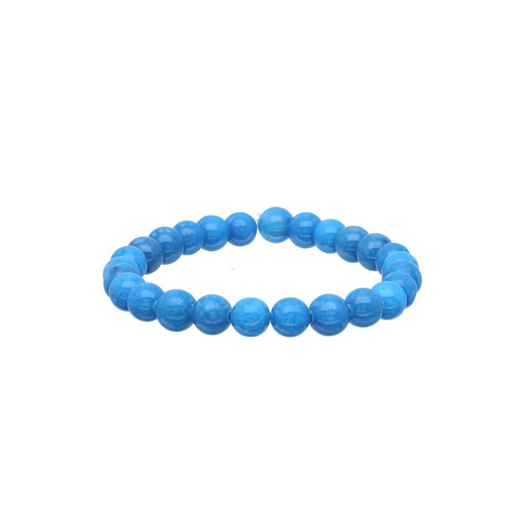 Lilly Stretch kralenarmband - 50 mm - blauwe glaskralen -