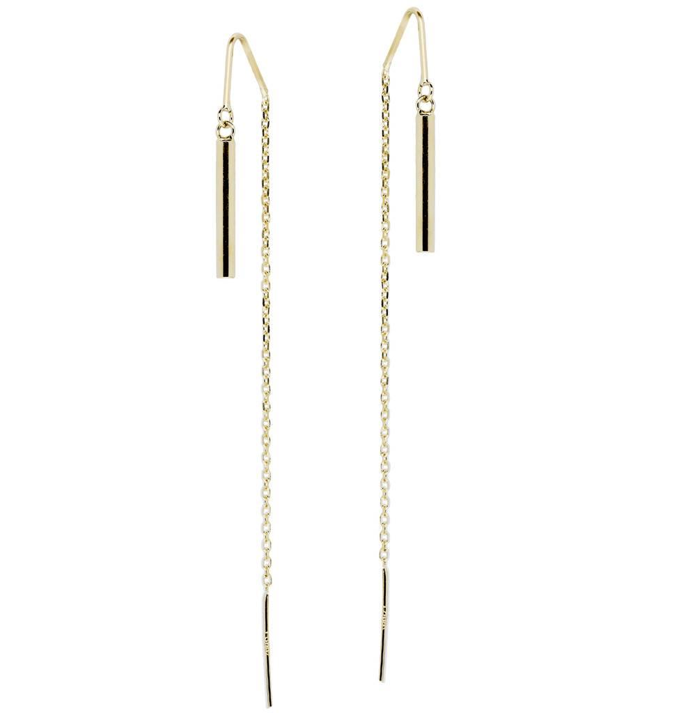 Glow Gouden oorhangers - ronde buis -