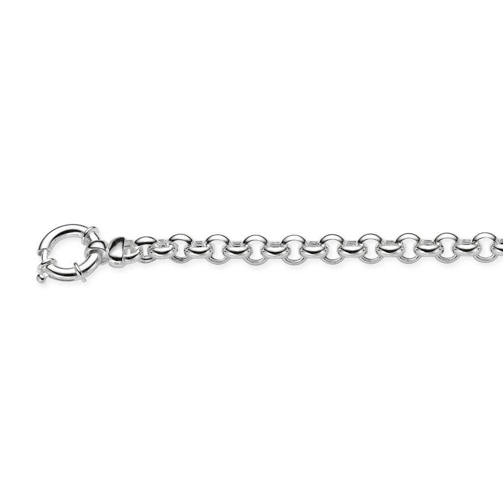 Best basics Zilveren schakelarmband - jasseron 7 mm - 20 cm -