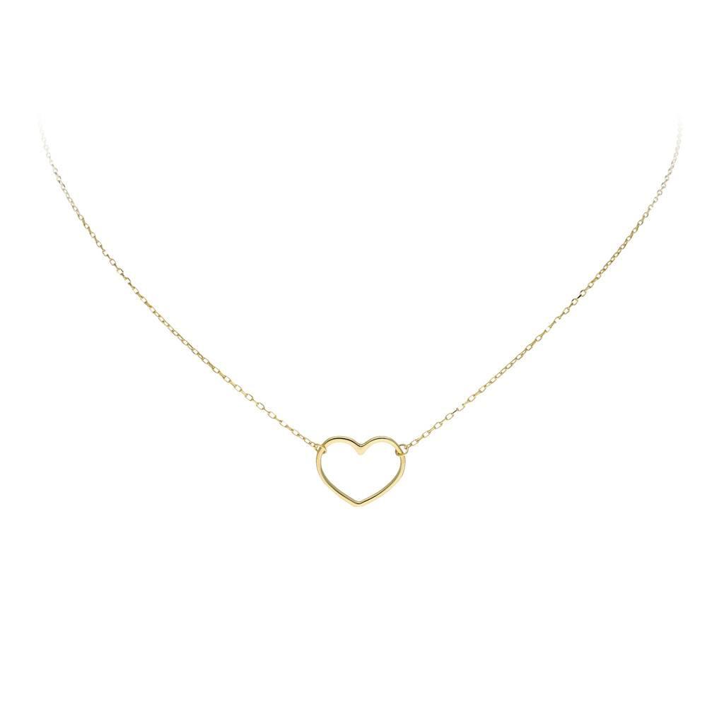 Glow Gouden collier met hanger - hart - 40+3cm -
