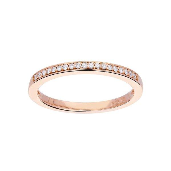 Roségouden ring - glanzend - diamant - 19-0.09ct