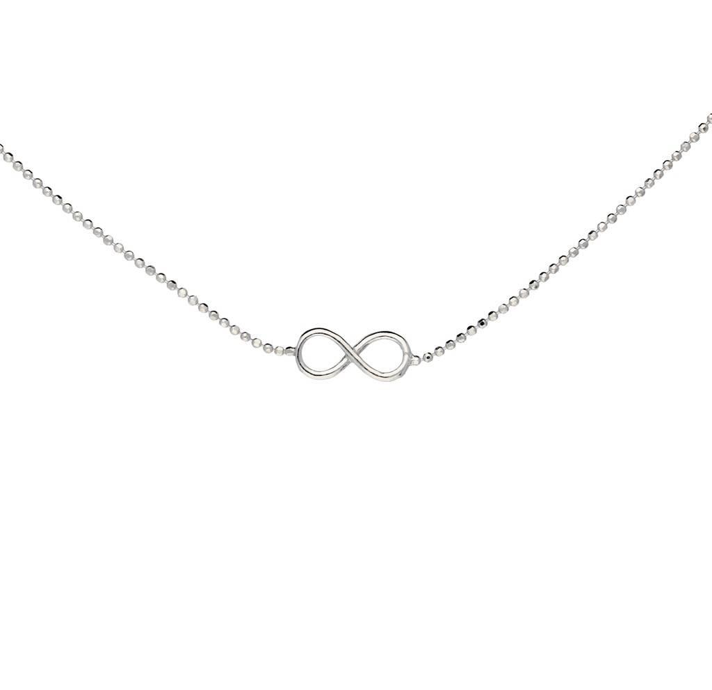 Lovenotes Zilveren collier met hanger - infinity - 42-45 cm - Gerodineerd