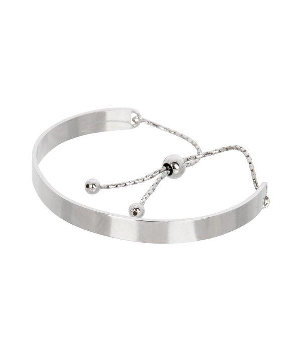 Lovenotes Zilveren klemarmband - slavenband met aantrekkoord - Gerodineerd