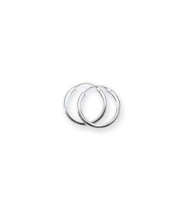 Best basics Zilveren draadcreolen - 2 mm - Vierkante buis