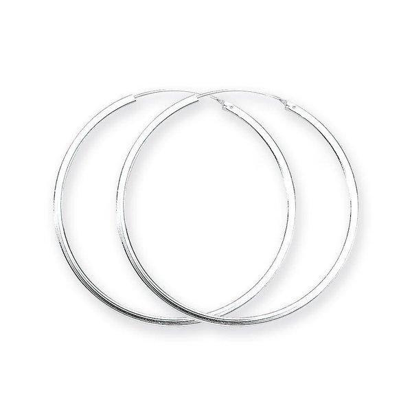 Zilveren draadcreolen - 2 mm