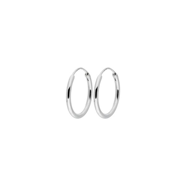 Zilveren draadcreolen - 1.9 mm