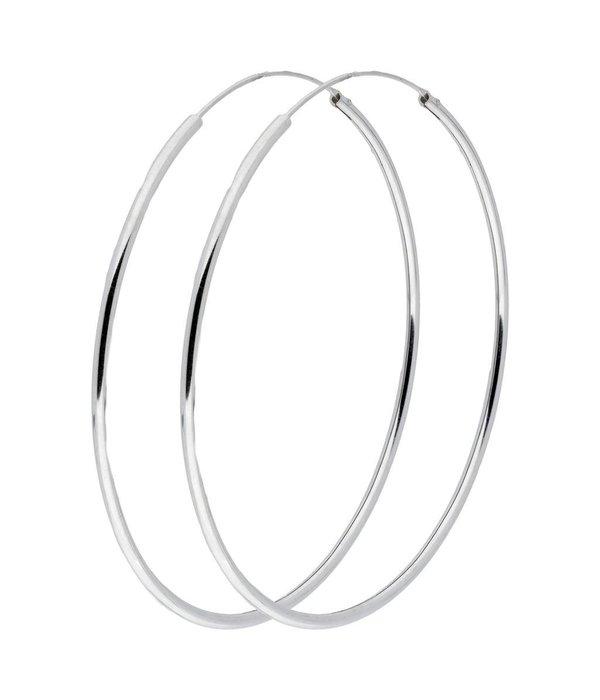 Best basics Zilveren draadcreolen - 1.9 mm - Ronde buis