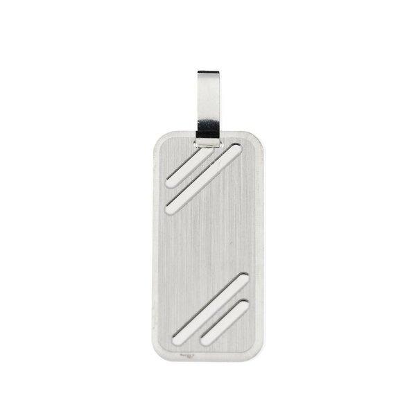 Zilveren graveerplaatje - 12 mm - rechthoek
