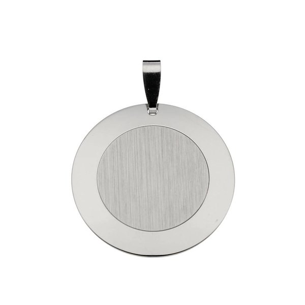 Zilveren graveerplaatje - 22x22 mm - rond