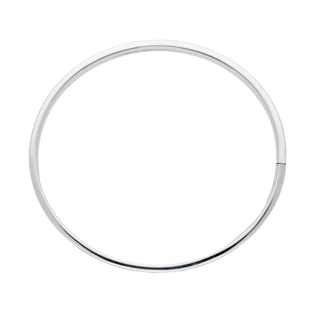 Best basics Zilveren holle slavenband dop - vierkant - 6 mm - 60 mm