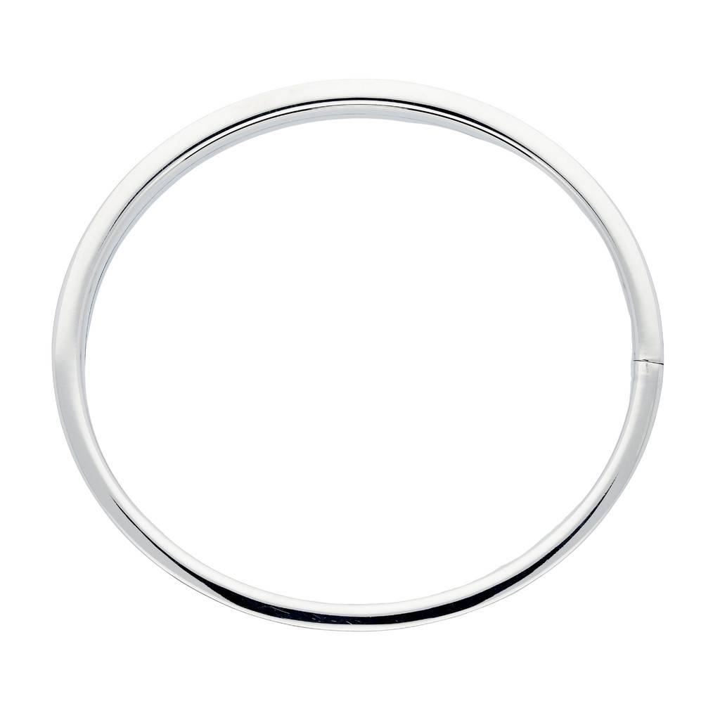 Best basics Zilveren holle slavenband dop - vierkant - 8 mm - 60 mm