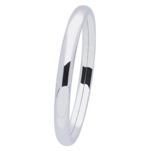 Zilveren holle slavenband dop - ovaal 8 mm - 64 mm
