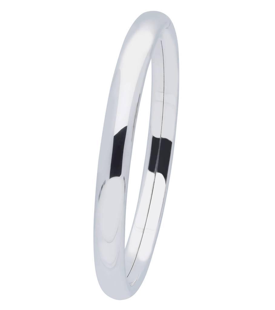 Best basics Zilveren holle slavenband dop - ovaal 8 mm - 64 mm -