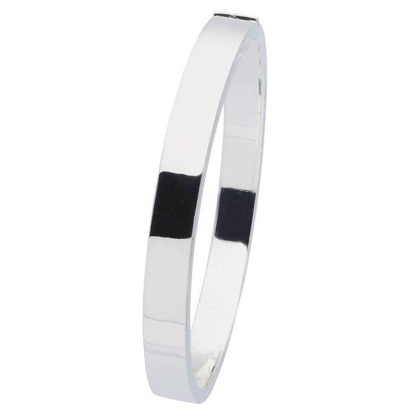 Zilveren holle slavenband scharnier - vierk 7 mm