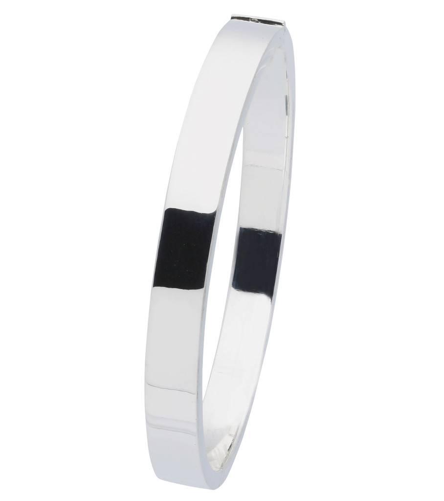 Best basics Zilveren holle slavenband scharnier - vierk 7 mm - 63 mm